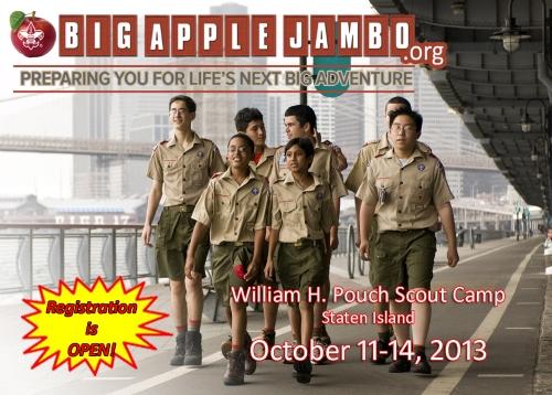 Big Apple Jambo Troop Postcard