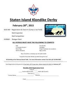 2015.2.28Staten Island Klondike Derby